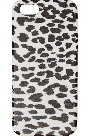Saint Laurent - White & Black Babycat iPhone Case 5