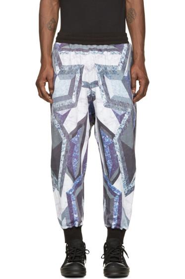 KTZ - Purple & Grey Prism Print Lounge Pants