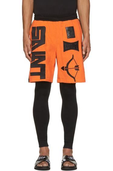 KTZ - Orange & Black Terrycloth Arrow Shorts