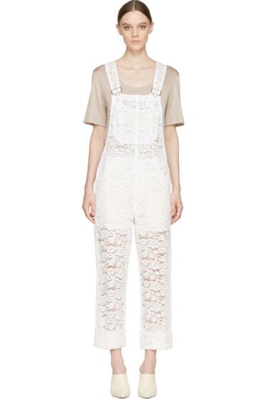 Nina Ricci - Ivory Lace Overalls