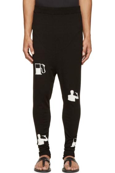 Thamanyah - Black & White Tech Knit Lounge Pants