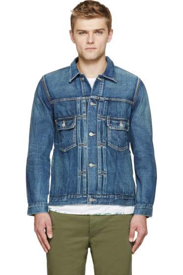 Visvim - Blue Denim Damaged Jacket