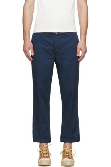 Visvim - Navy High Water Chino Trousers