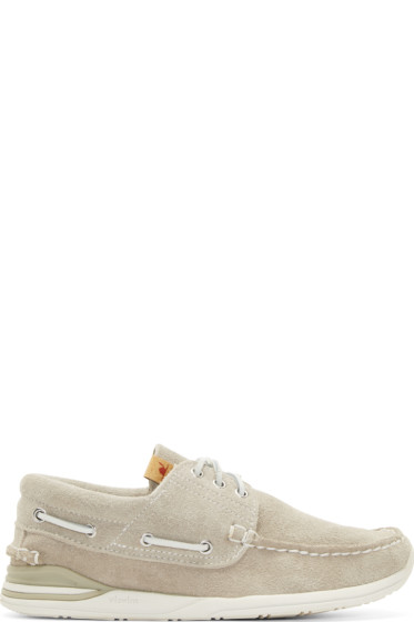 Visvim - Grey Suede Hockney Folk Shoes