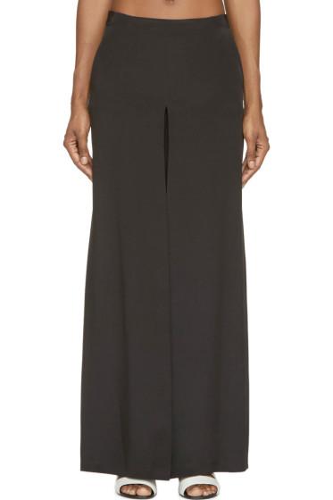 Costume National - Black Silk Trapeze Trousers