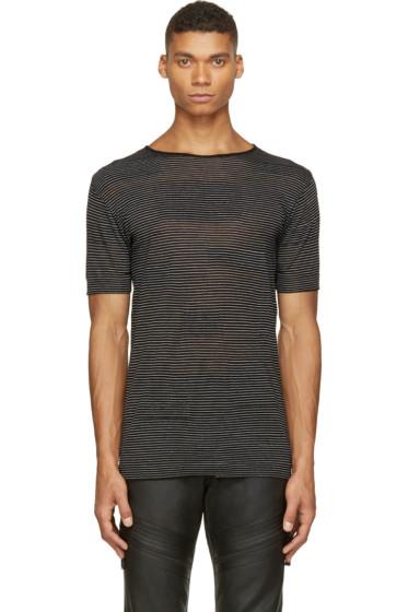Costume National - Black Alternating Knit T-Shirt