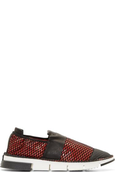 Cinzia Araia - Red Mesh Slip-On Shoes