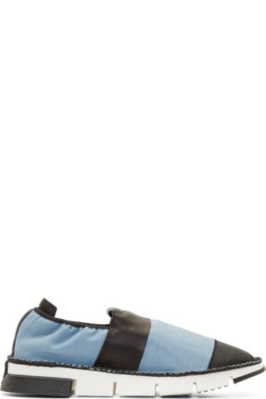 Cinzia Araia - Blue Mesh Slip-On Sneakers