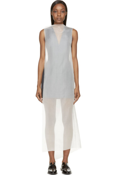 Yang Li - Navy Denim & Chiffon Ghost Dress