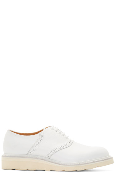 08Sircus - White Leather Brogued Oxfords