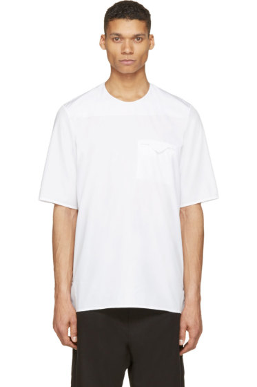 Siki Im - White Poplin Minimal T-Shirt