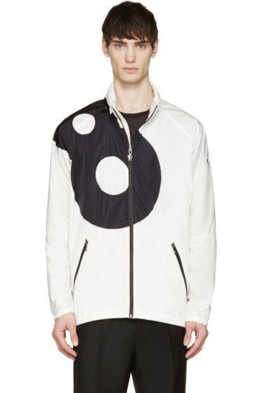 Moncler Gamme Rouge - White Lucky '8' Hooded Jacket