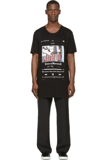 Costume N Costume - Black Oversized Layered T-Shirt