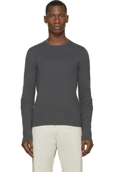 Costume N Costume - Grey Knit Crewneck Sweater