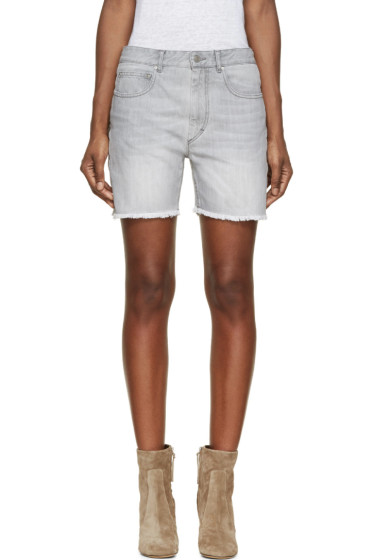 Isabel Marant Etoile - Grey Denim Prato Gaucho Shorts