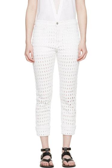 Isabel Marant - White Eyelet Pierce Jeans
