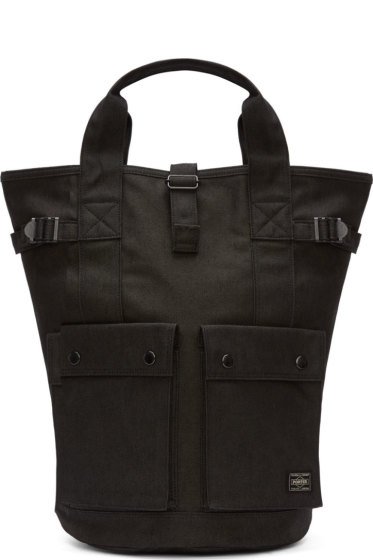 Porter - Black Denim Convertible Backpack