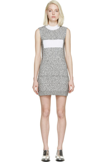 Paco Rabanne - Black & White Marled Knit Dress
