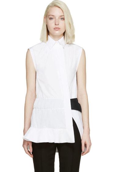Paco Rabanne - White Poplin Ruffle Shirt