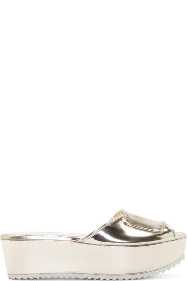Amélie Pichard - Gold Platform Guy Sandals