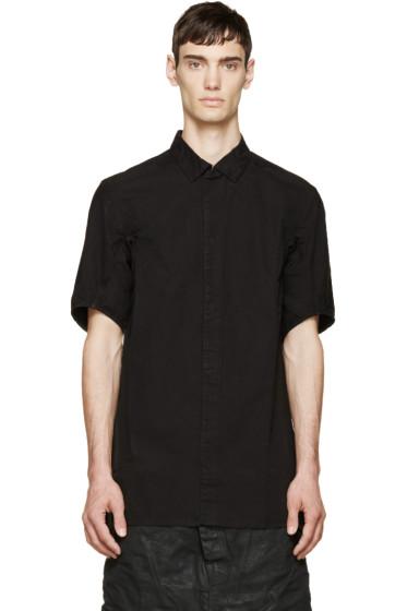 11 by Boris Bidjan Saberi - Black Logo Print Shirt