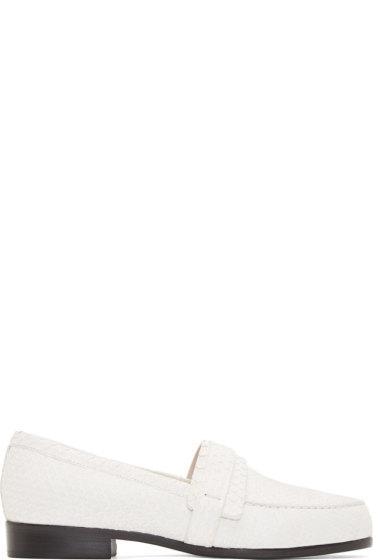 Carritz - White Python Moccasin Flats