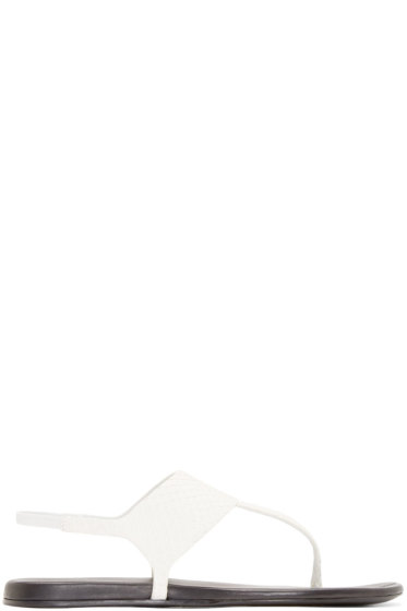 Carritz - White Python Salome Sandals