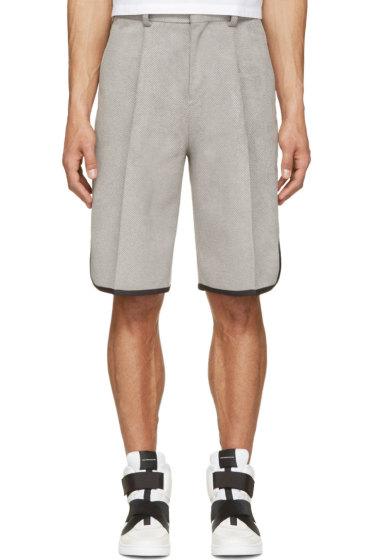 Johnlawrencesullivan - Grey Tailored Basketball Shorts
