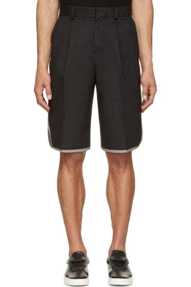 Johnlawrencesullivan - Black Perforated Basketball Shorts