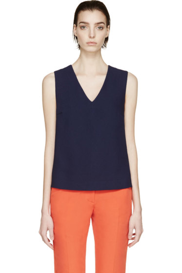 Rejina Pyo - SSENSE Exclusive Navy & Scarlet Modernist Blouse