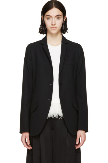 Erdem - Black Lace Panel Fletcher Blazer