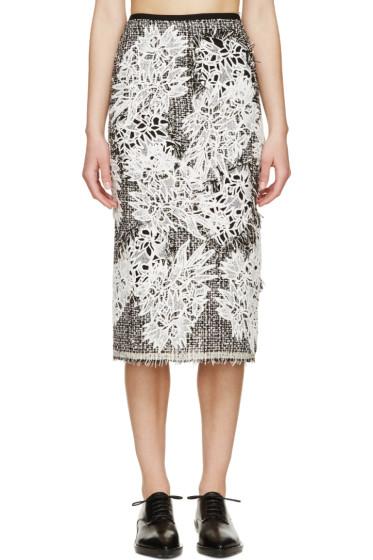 Erdem - Black & White Tweed Safia Skirt