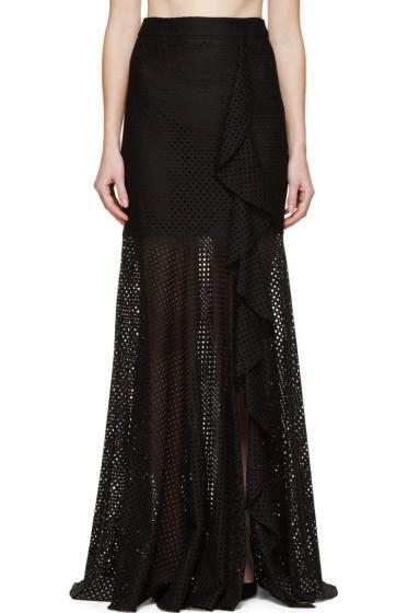 Erdem - Black Ruffle Georgia Skirt