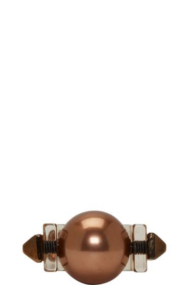 Caterina Zangrando - Tarnished Brass Studded Resin Ring