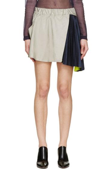 Thomas Tait - Grey Taffeta & Satin Memory Skirt