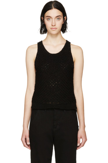 Rag & Bone - Black Crocheted Lizette Top