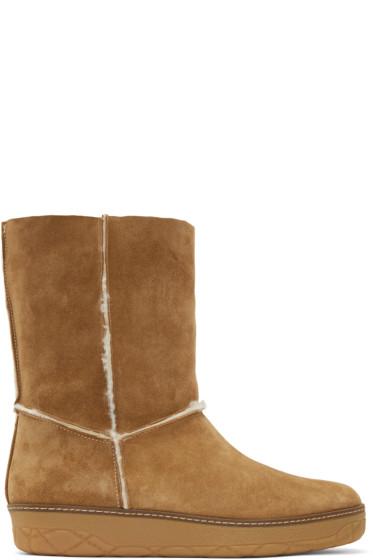 Moncler - Tan Shearling Boots