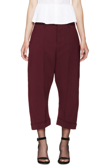 Dsquared2 - Burgundy Cropped Kawaii Trousers