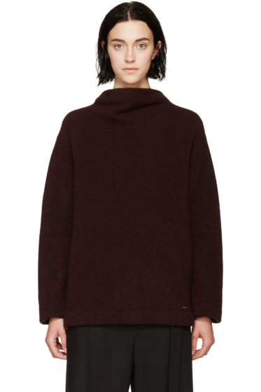 Dsquared2 - Burgundy Stand Collar Sweater