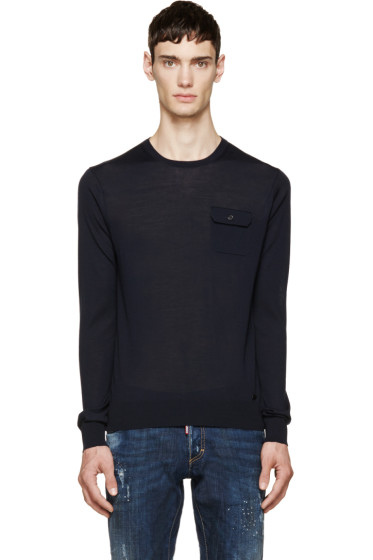 Dsquared2 - Navy Knit Pocket Sweater