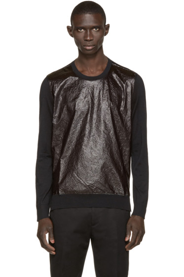 Dsquared2 - Black Crinkle-Front Sweater