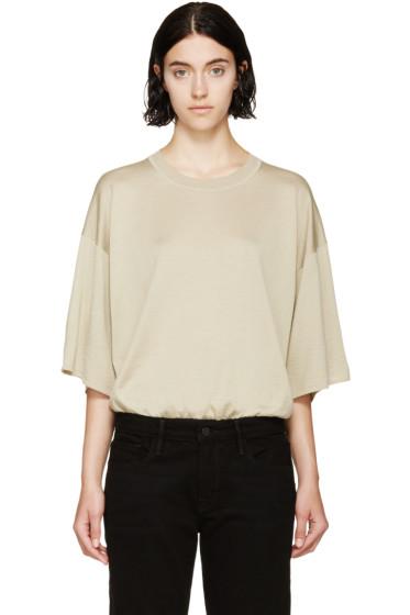 Maison Margiela - Ecru Knit Short Sleeve Bodysuit