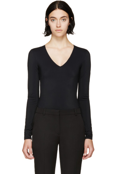 Maison Margiela - Black Technical Jersey Long-Sleeve Bodysuit