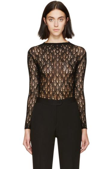 Maison Margiela - Black Open-Knit Body Suit