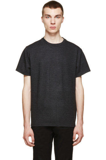 Christopher Kane - Grey Checked Flannel T-Shirt