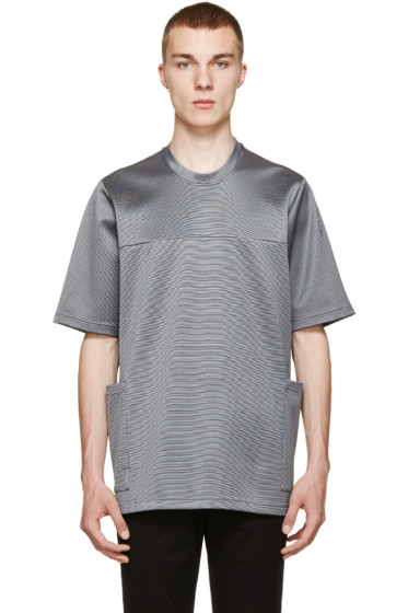 Christopher Kane - Grey Oversized Stretch T-Shirt
