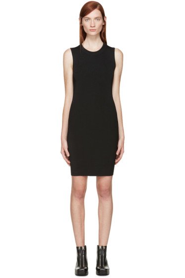 T by Alexander Wang - Black Open Back Fitted Dress