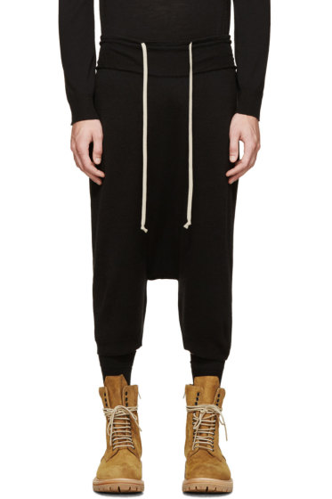 Rick Owens - Black Wool Knit Pod Shorts