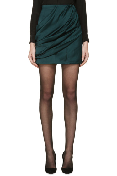 Balmain - Green Draped Skirt