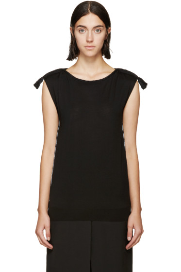 Lanvin - Black Rope Piping Sweater
